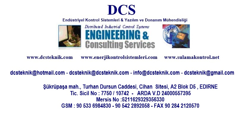 DCS Otomasyon ve Kontrol Sistemleri Yazılım ve Donanım Mühendisliği